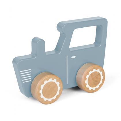 Little Dutch wooden tractor - blue