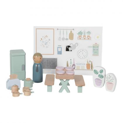 Little Dutch Holz Puppenhaus Spielset Küche - multi