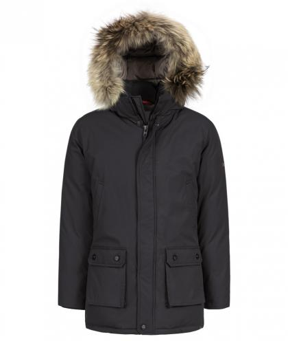 Mc Ross New Yukon Teflon Daunenjacke mit Echtfell  in blau