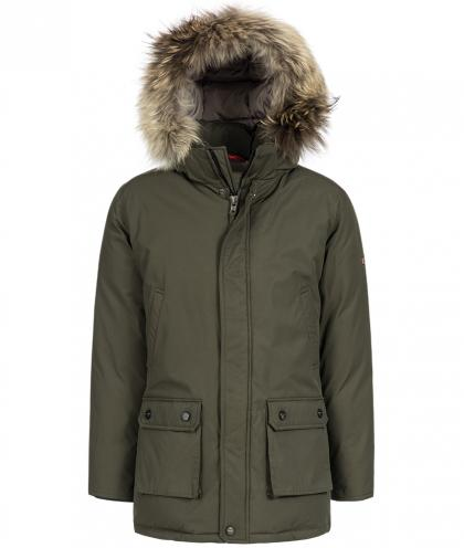 Mc Ross New Yukon Teflon Daunenjacke mit Echtfell in olive