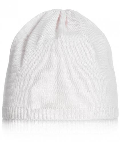 Mia baby knitted hat - white