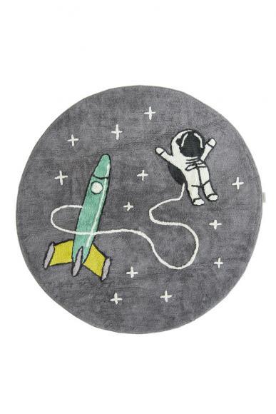 Minividuals Teppich Astronaut mit Rakete rund - 150cm
