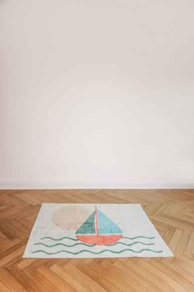 Minividuals Teppich Boot rechteckig - 120 x 170 cm