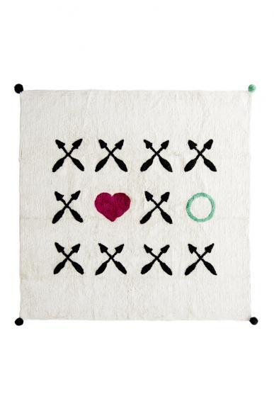 Minividuals Teppich XOXO quadratisch - 150 x 150cm