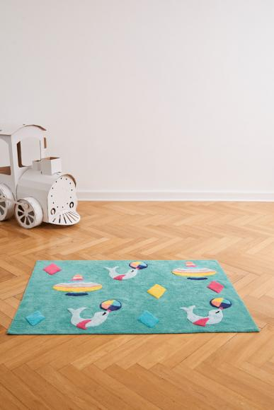 Minividuals Teppich Zirkus rechteckig - 120 x 170 cm