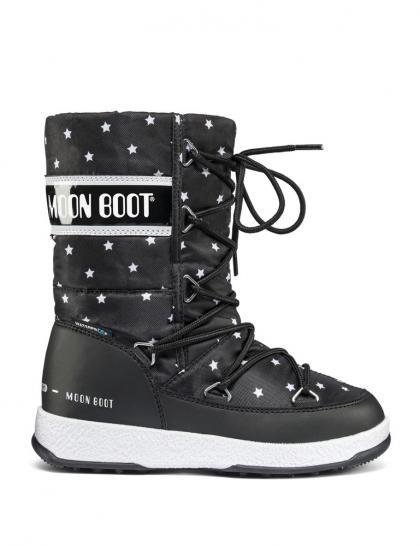 Moon Boots JR Q-Girl mit kleinen Sternen in schwarz