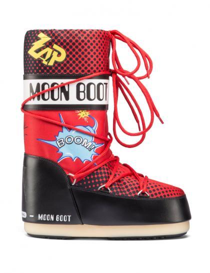 Moon Boot Kids Winterschuh Comics in rot