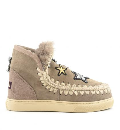 Mou Eskimo Sneaker Star Patches in beige