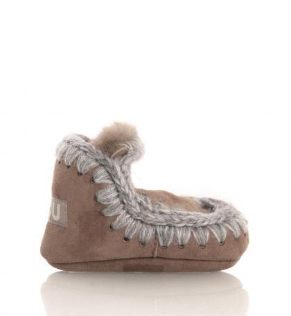 Mou Eskimo Infant baby shoes in Dark Stone
