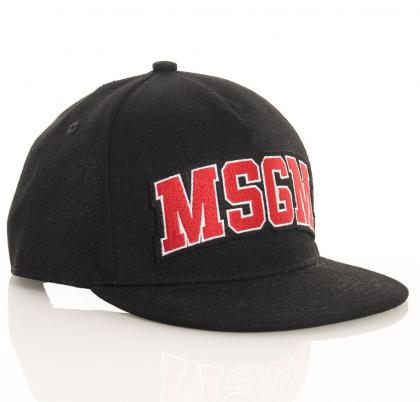 MSGM cap with logo print in black