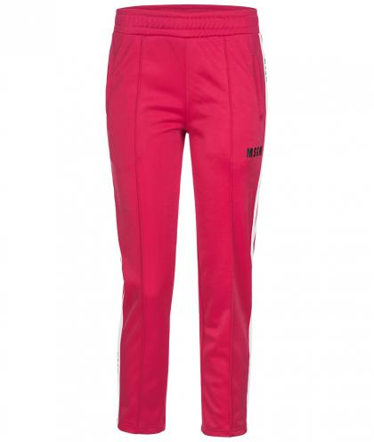 MSGM Jogginghose mit Track Stripes in pink
