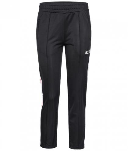 MSGM Jogginghose mit Track Stripes in schwarz