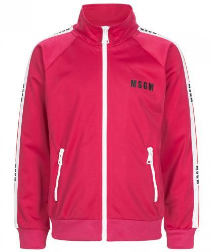 MSGM Joggingjacke mit Track Stripes pink
