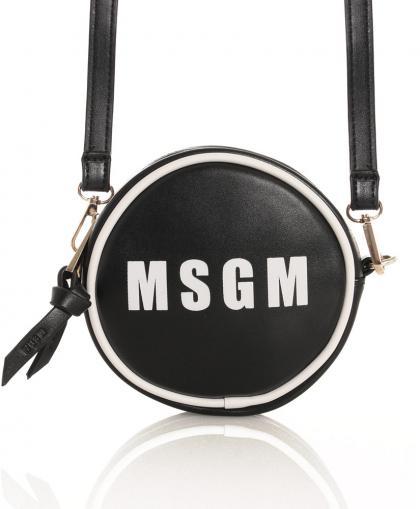 MSGM runde Umhängetasche in schwarz
