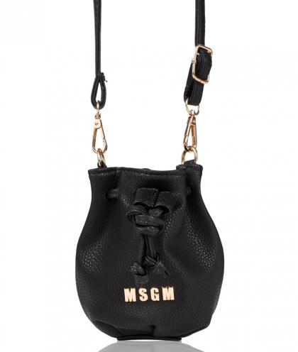 MSGM Beuteltasche in schwarz