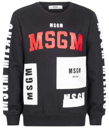MSGM Pullover mit beidseitigem Print in schwarz