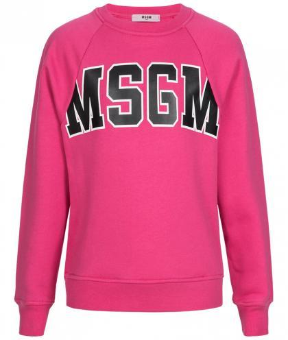 MSGM logo sweatshirt in fuxia pink