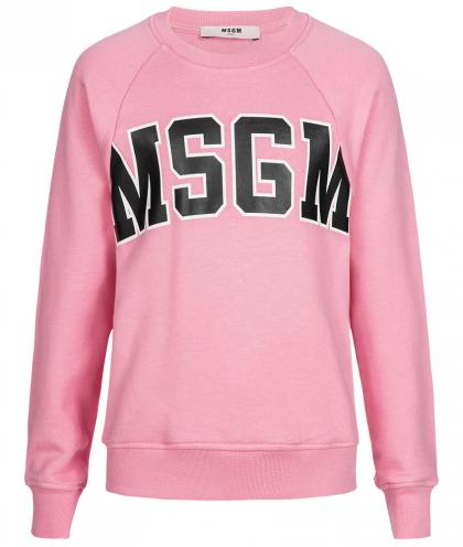 MSGM logo sweatshirt in rose