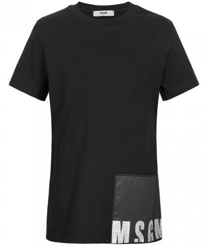 MSGM Oversize-Shirt mit Strass in schwarz