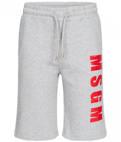 MSGM Bermuda Sweat-Shorts in grau-meliert