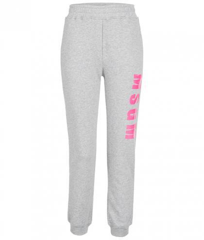 MSGM Sweat-Pants mit Print in grau-meliert