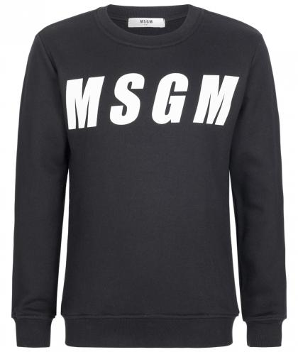 MSGM sweater with both sided print in black