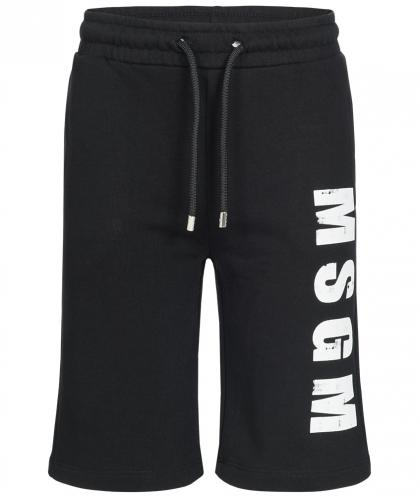 MSGM Bermuda Sweat-Shorts in schwarz