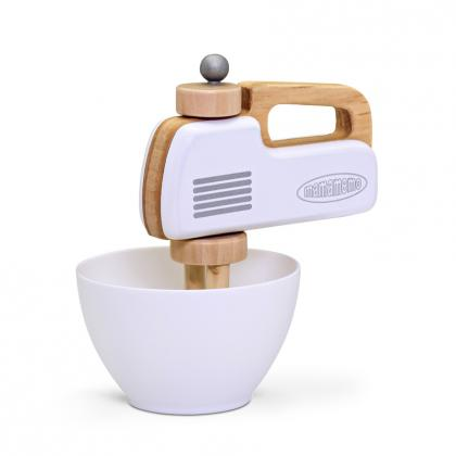MaMaMeMo wooden hand mixer - white