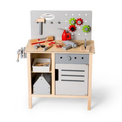 MaMaMeMo Holz Werkbank - grau