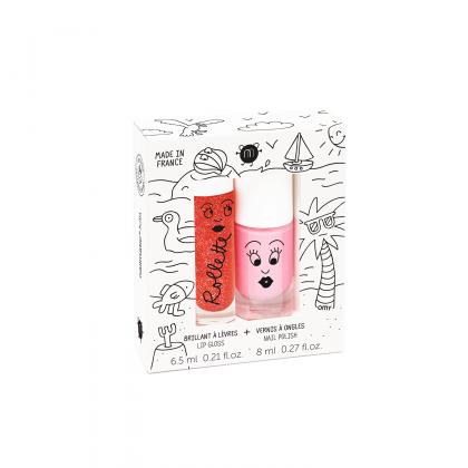 Nailmatic Lip-Gloss und Nagellack-Set Holidays 2
