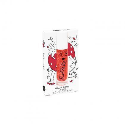 Nailmatic natürlicher Lip-Gloss mit Erdbeer-Geschmack in rot