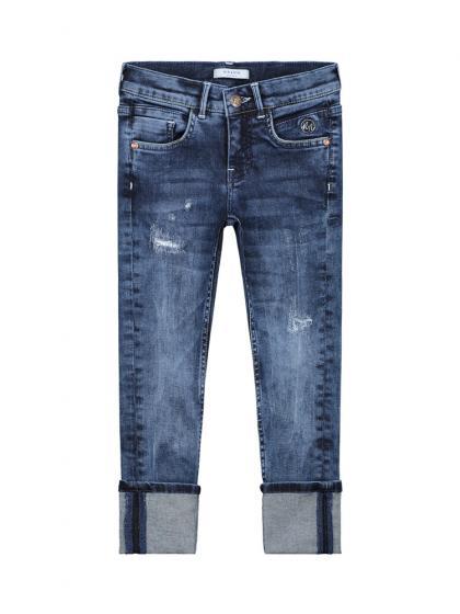 Nik&Nik Jeans Fiona im Destroyed Look in blau