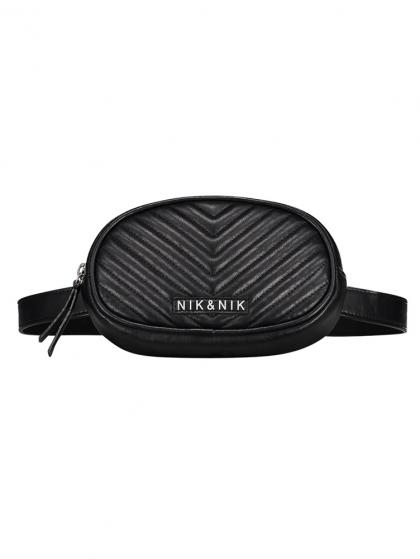 Nik & Nik fanny pack Jane with quilting - black