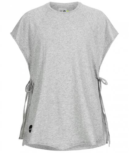Poncho-Shirt in grau