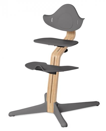 Nomi by Evomove highchair oak with beech core, white oiled - grey
