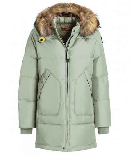 Parajumpers Long Bear down coat with real fur - aloe