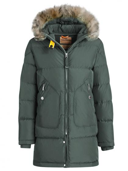Parajumpers Light Long Bear down parka with real fur - jasper green