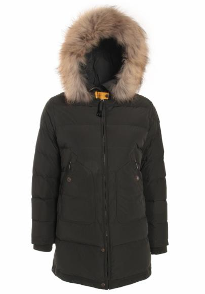 Parajumpers Light Long Bear down parka with real fur in black