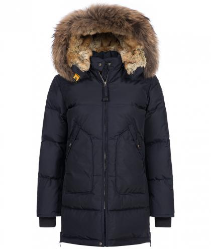 Parajumpers Daunenparka Long Bear mit Echtfell in navy