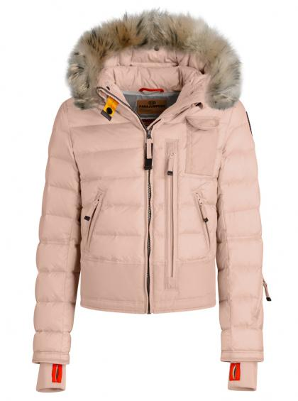 Parajumpers Skimaster down jacket with real fur in powder pink