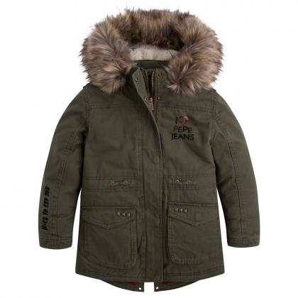 Pepe Parka Aideen Jr in oliv
