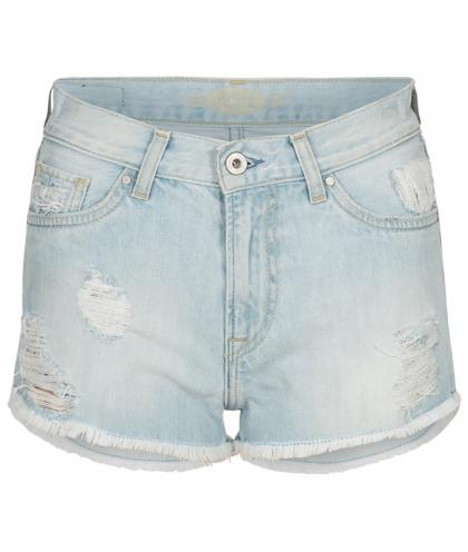 Pepe Jeans-Shorts Patty Blch im Destroyed Look in hellblau