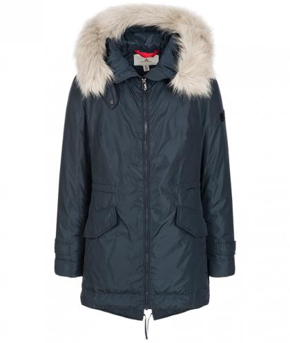 Peuterey Daunenparka Statics mit Fake Fell in navy