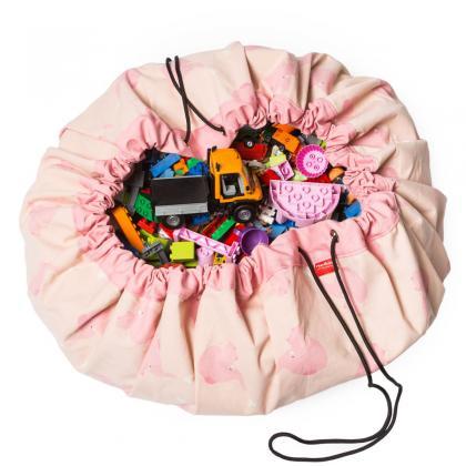 Play&Go 2in1 Spielsack & Spielteppich Elefant in rosa