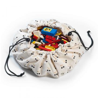 Play&Go Mini Spielsack/-matte Cherry Gold - creme Ø40 cm
