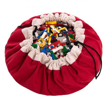 Play&Go 2in1 Toy Storage Bags & Playmat in red