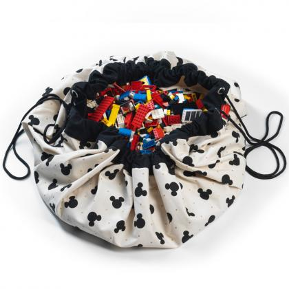 Play&Go 2in1 Spielsack/-teppich Mickey Mouse - creme Ø140 cm
