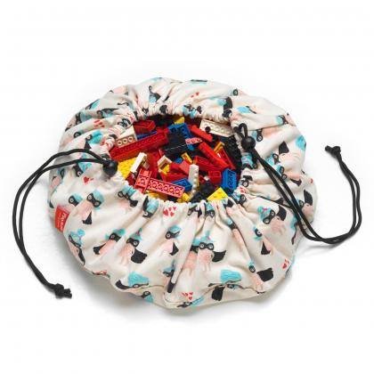 Play&Go Mini Spielsack/-matte Supergirl - creme Ø40 cm