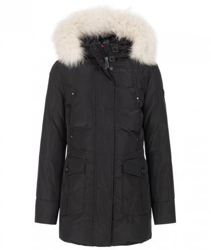Peuterey down parka Regina with real fur - black