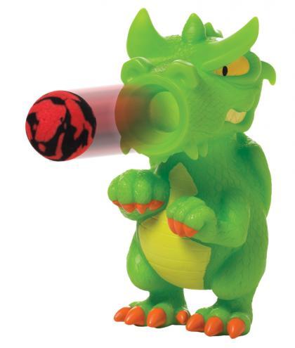 Leif Plopper Drachen mit 6 Schaumstoffbälllen - grün
